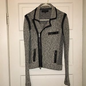 Black/white tweed moto style rag & bone jacket